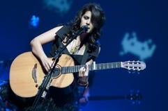Katie Melua auf Stufe Lizenzfreie Stockbilder