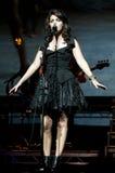 Katie Melua on stage Royalty Free Stock Photos