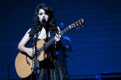 Katie Melua sulla fase Fotografie Stock Libere da Diritti