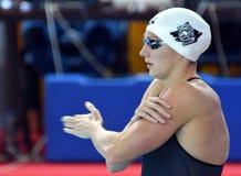 Katinka HOSSZU HUN. Hong Kong, China - Oct 29, 2016.  Katinka HOSSZU HUN at the start of the Women`s Freestyle 800m Final. FINA Swimming World Cup, Victoria Park Stock Image