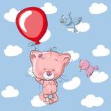 Katje met ballon vector illustratie
