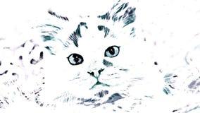 Katje met een minimalistisch effect Vector Illustratie