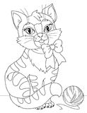 Katjes kleurende pagina Stock Afbeeldingen