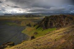 Katla en Eyjafjallajokull Stock Afbeelding