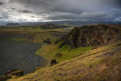 Katla and Eyjafjallajokull Stock Image