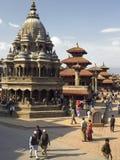 Katmandou - grand dos de Durbar - le Népal Photographie stock libre de droits