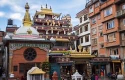KATMANDOU, NÉPAL 16 MARS : Les rues de Katmandou le 16 mars, Photo libre de droits