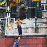 KATMANDOU, NÉPAL 16 MARS : Les rues de Katmandou le 16 mars, Images stock