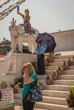 KATMANDOU, NÉPAL 28 MARS : Stupa de Boudhanath le 28 mars 2015 dedans Photo stock