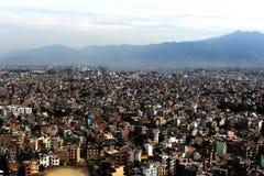 Katmandu de la opinión superior del ojo Imagenes de archivo
