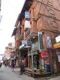 Katmandu, de Straten van Thamel royalty-vrije stock foto's