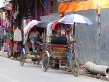 Katmandu, de Straten van Thamel stock fotografie