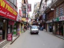Katmandu, de Straten van Thamel stock afbeeldingen