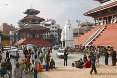 Katmandu, Durbar Quadrat Lizenzfreie Stockfotos