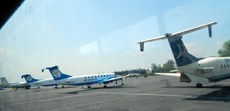 Katmandu flygplats Arkivfoto