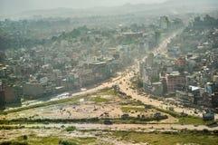 Katmandu från luften Arkivbilder