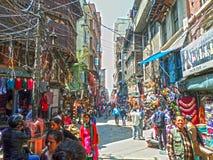 Katmandu gatasikt Arkivfoton