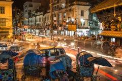 Katmandu kaos Royaltyfria Bilder