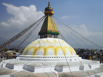Katmandu - Nepal - Boudhanath Stupa Stock Afbeelding