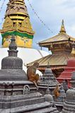 Katmandu, Nepal, complejo del templo de Swayambhunath (colina del mono) imagen de archivo