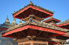 Katmandu, Nepal, cuadrado antiguo de Durbar En puede el cuadrado 2015 destruido parcialmente durante el terremoto imagen de archivo libre de regalías