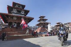 KATMANDU, NEPAL - FEBRUARI 10, 2015: Beroemde Durbar vierkant o Royalty-vrije Stock Foto