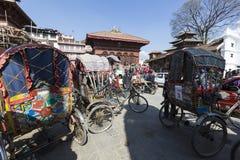 KATMANDU, NEPAL - FEBRUARI 10, 2015: Beroemde Durbar vierkant o Stock Afbeeldingen