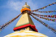 Katmandu, 7 Nepal-Maart, 2018: Boeddhistische tempel Boudhanath stock fotografie