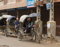 KATMANDU, 16 NEPAL-MAART: De straten van Katmandu op 16 Maart, Stock Fotografie
