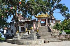 Katmandu, Nepal, monasterio budista en el complejo del templo de Swayambhunath (colina del mono) Fotografía de archivo libre de regalías