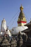 KATMANDU NEPAL - NOVEMBER 06: Stupa Swayambhunath Swayambhun Royaltyfri Bild