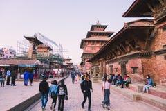Katmandu, Nepal - 26,2018 Oct: De Patantempel, het Vierkant van Patan Durbar is gesitueerd op het centrum van Lalitpur, Nepal Het royalty-vrije stock foto