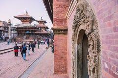 Katmandu, Nepal - 26,2018 Oct: De Patantempel, het Vierkant van Patan Durbar is gesitueerd op het centrum van Lalitpur, Nepal Het royalty-vrije stock afbeeldingen