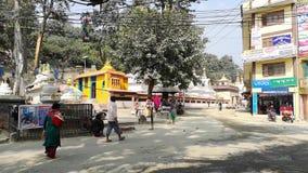 Katmandu, Nepal - octubre de 2018: Swayambhunath o temle del mono Katmandu, Nepal Swayambhunath, o Swayambu o almacen de video