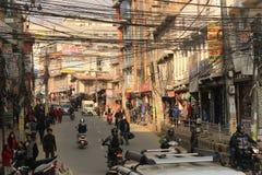 Katmandu Nepal, South Asia, trafik royaltyfri foto