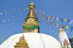 Katmandu, Nepal, stupa de Swayambhunath imagen de archivo libre de regalías