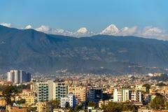 Katmandu stad i Nepal Arkivbilder