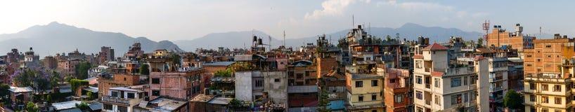 Katmandu stadspanorama Arkivbilder