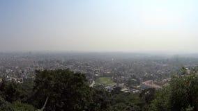 Katmandu van de hoogte van de vogel` s vlucht stock videobeelden