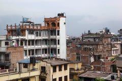 Katmandu von der Dachspitze Stockfotos