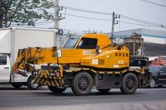 KATO Crane MR-100 of ST Construction Company. Chiangmai, Thailand - April 5 2019: KATO Crane MR-100 of ST Construction Company.Photo at road no 121 about 8 km stock photography