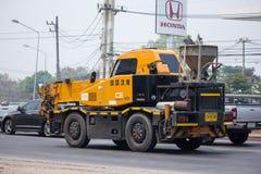 KATO Crane MR-100 of ST Construction Company. Chiangmai, Thailand - April 5 2019: KATO Crane MR-100 of ST Construction Company.Photo at road no 121 about 8 km stock photos