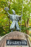 Kato Kiyomasa statue at Nagoya Castle Stock Photo
