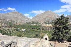 Kato Lower Preveli Monastery van Preveli Kreta, Griekenland royalty-vrije stock foto's