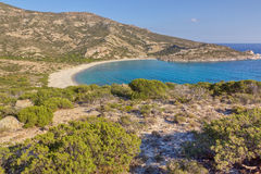 Kato Myrsini bay, Polyaigos island, Greece Royalty Free Stock Photography