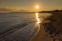 Kato Stalos-strand, Chania-prefectuur, Westelijk Kreta, Griekenland royalty-vrije stock afbeeldingen