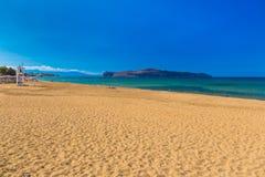 Kato Stalos-strand, Chania-prefectuur, Westelijk Kreta, Griekenland stock foto