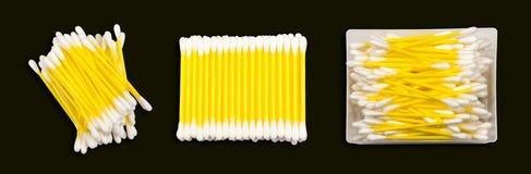 Katoenen geïsoleerde knoppen Royalty-vrije Stock Fotografie