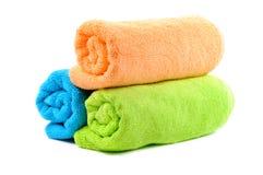Katoenen handdoeken stock foto's