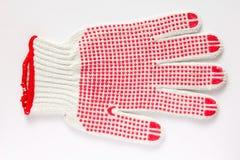 Katoenen handschoen Stock Fotografie
